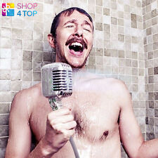 MICROPHONE SHOWER HEAD RETRO SHAPED BATH BATHROOM ORIGINAL FUNNY NOVELTY GIFTS