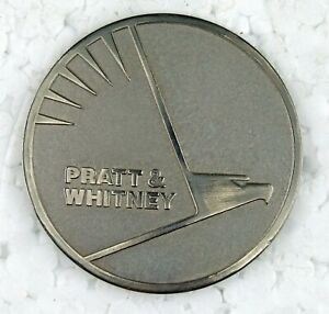 RARE Nickel Stainless Pratt & Whitney Flying Pig Eagle P&W Engine Badge