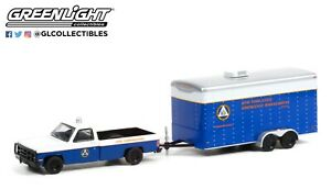 1:64 GreenLight *HITCH & TOW 22* NY 1987 Chevy M1008 Communications Trailer NIP