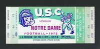 VINTAGE 1972 NCAA NOTRE DAME FIGHTING IRISH @ USC TROJANS FOOTBALL FULL TICKET