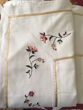 MARKS AND SPENCER Cream Double Size Embroidered Bed Topper