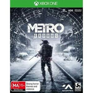 Metro Exodus Xbox One VERY GOOD FREE POST + TRACKING INC PICTURE POSTER! MINT!