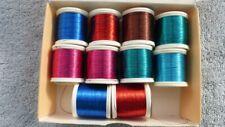 Gudebrod Metallic Rod Winding Thread 10 spools 6 colors