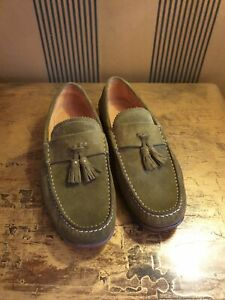 Authentic Gucci Suede Mens Loafers Shoes.Size 9.5.Eur 43.Made in Italy.