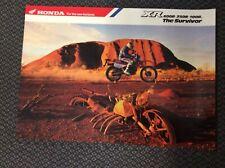 VINTAGE HONDA XR 600R/250R/100R THE SURVIVOR RARE POSTER MINT CONDITION