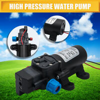 60W 12V 80Psi Water Pump High Pressure 5Lpm Self-Priming Caravan Camping Boat