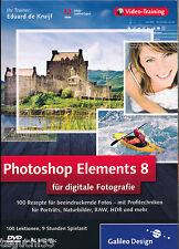 Photoshop Elements 8 - das Video-Training für digitale Fotografie | neuwertig !