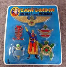 *NIP* 1978 FLASH GORDON *MEDALS and INSIGNIA* by Larami Corporation - 5 Medals