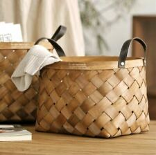 Handmade Natural storage basket with handle