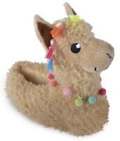Ladies Plush Novelty Llama Slippers