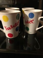 4 Twister mugs ~ The Game That Ties You Up In Knots HASBRO Very Good Condition