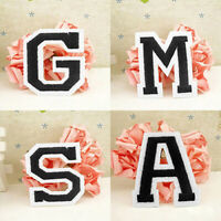 Letter A-Z Embroidered Motif Applique Iron On Patch Sew Clothing Sticker Eager