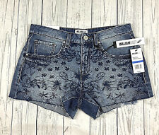 William Rast Somewhere Breezie shorts womens 25 embroidered cut off jean NWT