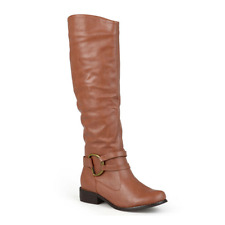 JOURNEE COLLECTION CHESTNUT BROWN COLOR KNEE HIGH BOOTS RIDING BOOTS SIZE 9