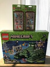 LEGO MINECRAFT THE OCEAN MONUMENT 21136 & (#853610 & #853609 Figures) NEW SEALED