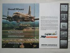 8/1981 PUB BRITISH AEROSPACE HS 748 COASTGUARDER MPA SAR AIR TATOO TROPHY AD