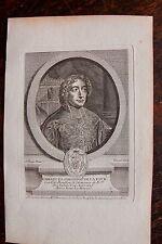 EMMANUEL THEODOSE DE LA TOUR CARDINAL DE .....PORTRAIT, GRAVURE ORIGINALE , 1760