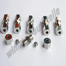 6x Bremsleitungsverbinder für Bremsleitung  4,75mm ohne zu bördeln Verbinder Qui