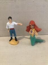 Vintage The Little Mermaid Prince Eric & ARIEL PVC  Disney Applause Cake Topper