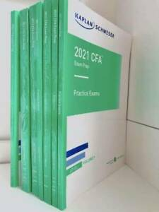 CFA Level 1 Kaplan Schweser 2021 Notes: Books 1-5 with Practice Exams