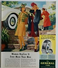 1940 the general one-and-only squeegee Tire women realize more than men ad