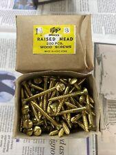"1 1/2"" X 8 Raised Head Brass Screws 200"