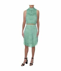 Free People Womens Lace Set Skirt Suit