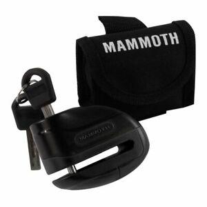 Mammoth Sécurité Rogue Moto Bloque Disque Avec 6mm Broche - Noir