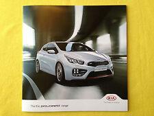 KIA Pro c'eed oficial de papel Folleto Ventas catálogo de marzo de 2014 como nuevo Ceed
