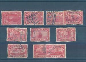 USA Parcel stamps used 1912 (CV $65 EUR57)