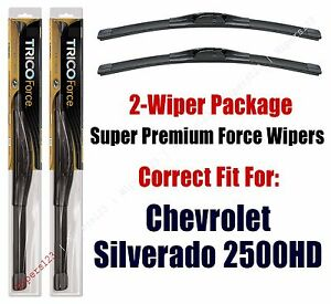 Wipers 2-Pack Hi-Performance - fits 2001+ Chevrolet Silverado 2500 HD - 25220x2