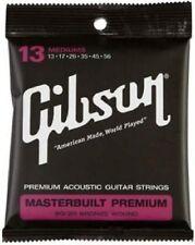 GIBSON GEAR SAG-BRS13 MASTERBUILT PREMIUM 80/20 BRASS ELECTIRC STRINGS .013-.056