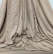 Linen Tencel Luxurious Japanese Knit Drapey Jersey fabric semi-sheer Latte