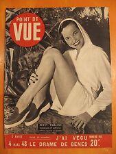 Point de Vue N° 155 du 04/03/1948-Betty Williams mannequin-Lorenz retrouvé