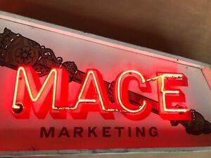 Vintage Neon Advertising sign 1950's original Retro Interiors