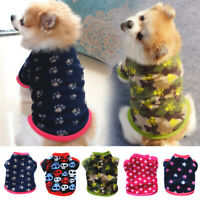 1PC Fall Pet  Fleece Vest Dog Coat Sweatshirt Pet Clothes Puppy Outfits Printed