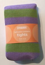NWT Gymboree 8-10 Flower Fairy Purple Green Stripe Tights for Halloween Costume