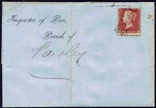 1278 CROSS SCOTS LOCAL CANCELLATION  1d STAR FOLDED LETTER 1858 TO PASLEY GB UK