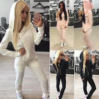 US Women 2pcs Tracksuit Hoodie Jogging Sweatshirt Pants Set Suit Sportswear