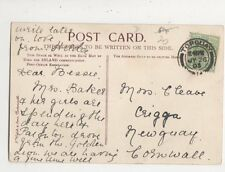 Miss Bessie Cleave Crigga Newquay Cornwall 1905 535a