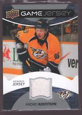 ANDREI KOSTITSYN 2012-13 UPPER DECK UD GAME USED WORN JERSEY PATCH PREDATORS $12