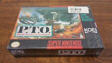 P.T.O. Pacific Theater of Operations NEW NIB Super Nintendo SNES H-Seam PTO CIB