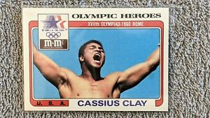 1983 Topps M&Ms Olympic Heroes Cassius Clay/Muhammad Ali #7 (GREAT Condition)