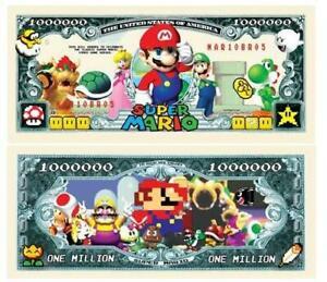Pack of 50 - Super Mario Brothers Nintendo 1 Million Novelty Dollar Bill