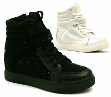 Leather High Top Athletic Shoes for Women