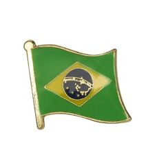 BRAZIL BRAZILIAN FLAG ENAMEL PIN BADGE FOOTBALL WORLD CUP  BRAND NEW FREE POST