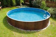 Stahlwandbecken Schwimmbecken Skimmer 3,60 x 1,07 m Rundbecken Pool Poolfolie