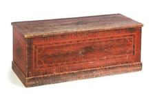 New York Decorated Blanket Chest. Lot 680