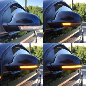 2X Fit For VW Golf 5 Jetta MK5 Passat B6 Dynamic LED Turn Signal Lights Mirror