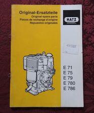 GENUINE HATZ E71 E75 E79 E780 E786 DIESEL ENGINE PARTS CATALOG MANUAL GOOD 1